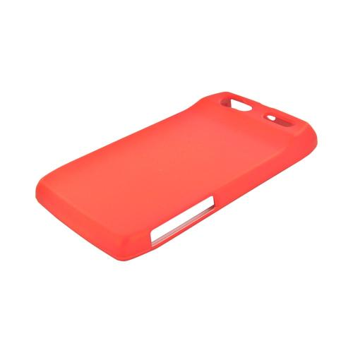Motorola XT881 Rubberized Hard Case - Orange