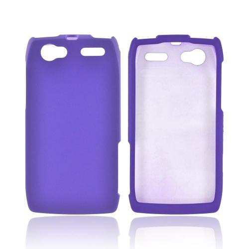 Motorola XT881 Rubberized Hard Case - Purple