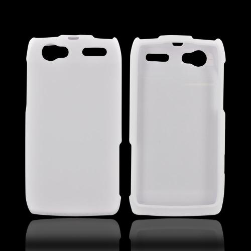Motorola XT881 Rubberized Hard Case - White