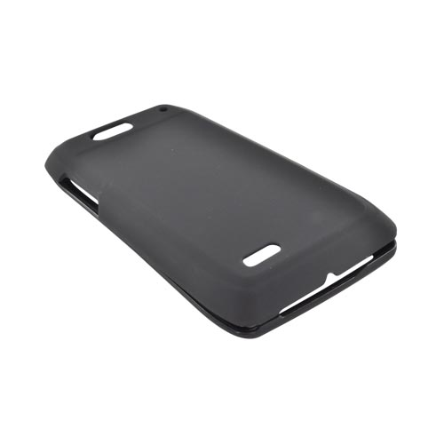 Motorola Droid 4 Rubberized Hard Case - Black