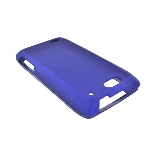 Motorola Droid 4 Rubberized Hard Case - Blue