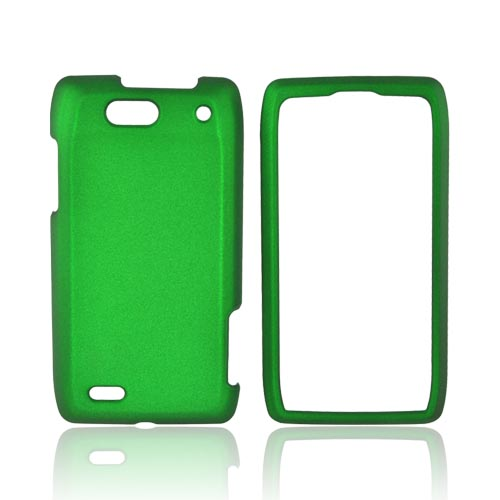 Motorola Droid 4 Rubberized Hard Case - Green