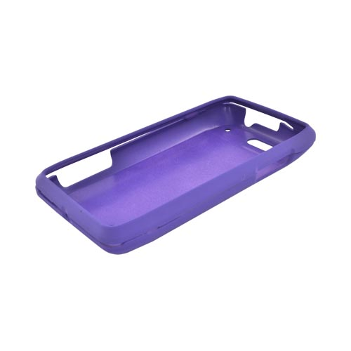 Motorola Droid 4 Rubberized Hard Case - Purple