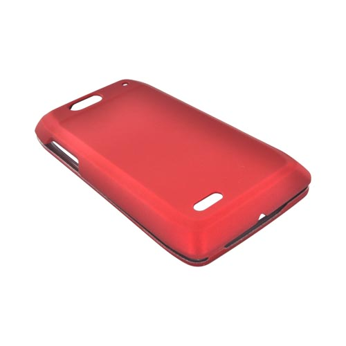 Motorola Droid 4 Rubberized Hard Case - Red