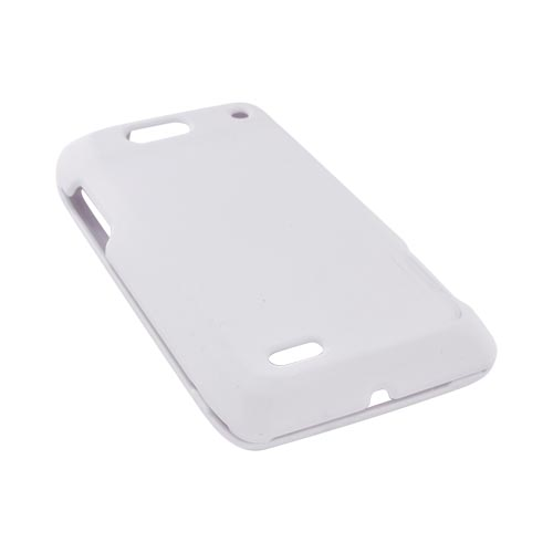 Motorola Droid 4 Rubberized Hard Case - Solid White