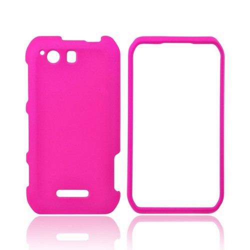 Motorola Photon Q 4G LTE Rubberized Hard Case - Hot Pink