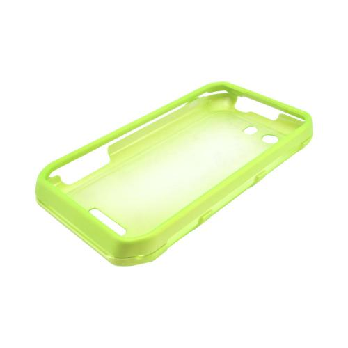 Motorola Photon Q 4G LTE Rubberized Hard Case - Neon Green