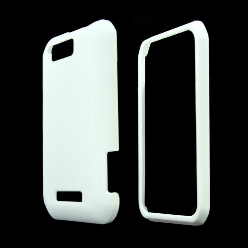 Motorola Photon Q 4G LTE Rubberized Hard Case - White