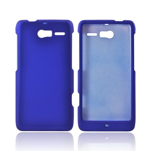 Motorola Droid RAZR M Rubberized Hard Case - Blue