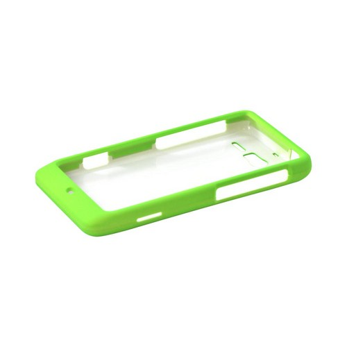Motorola Droid RAZR M Rubberized Hard Case - Neon Green