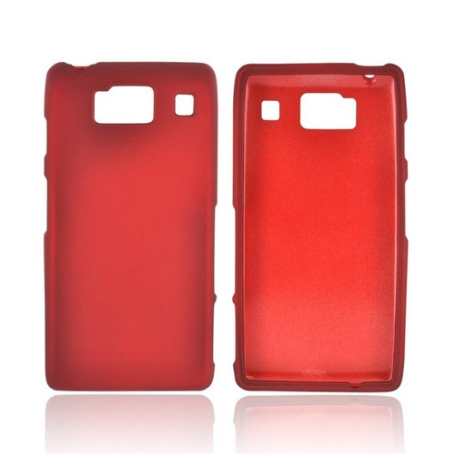 Motorola Droid RAZR HD Rubberized Hard Case - Red