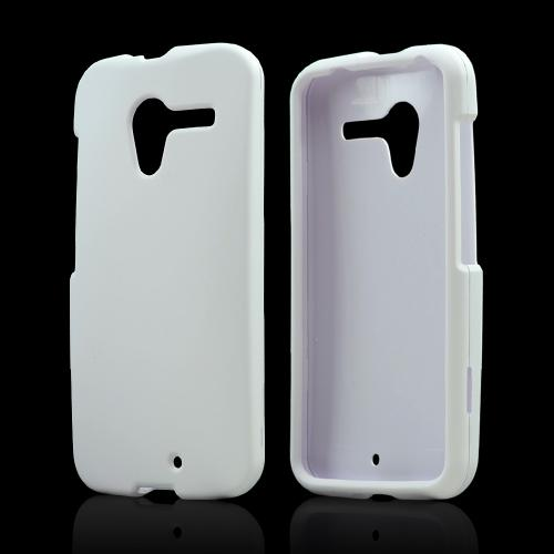 White Rubberized Hard Case for Motorola Moto X(2013 1st Gen)