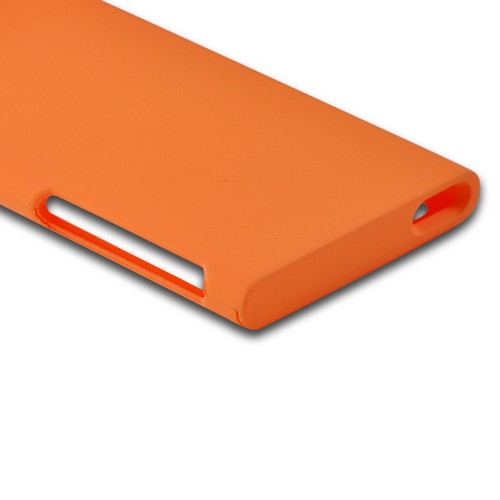 Apple iPod Nano 7 Rubberized Hard Case - Orange