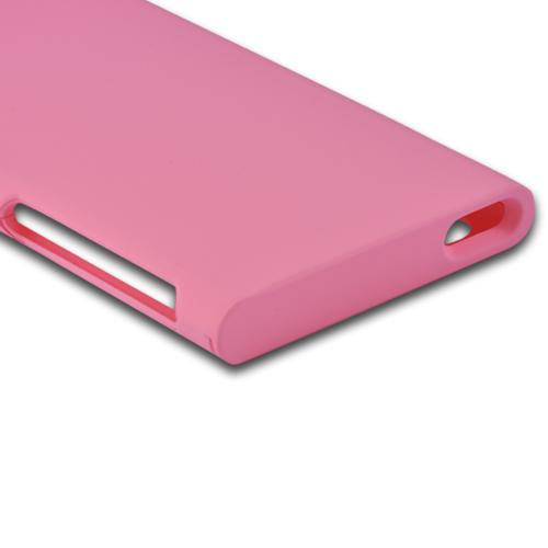Apple iPod Nano 7 Rubberized Hard Case - Pink