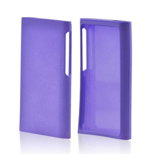 Apple iPod Nano 7 Rubberized Hard Case - Purple