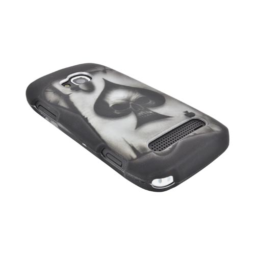 Nokia Lumia 710 Rubberized Hard Case - Ace Skull on Black