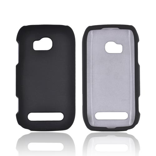 Nokia Lumia 710 Rubberized Hard Case - Black
