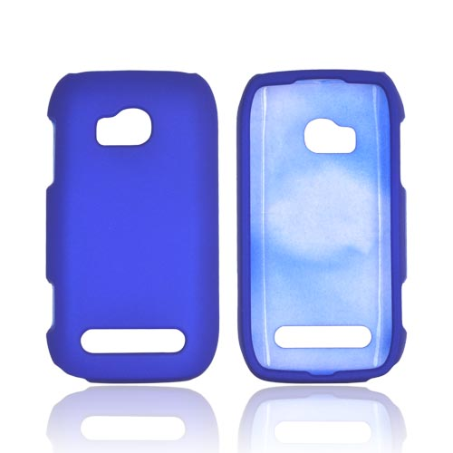 Nokia Lumia 710 Rubberized Hard Case - Blue