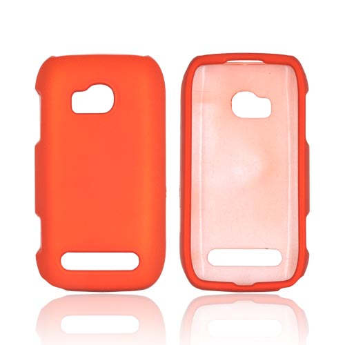 Nokia Lumia 710 Rubberized Hard Case - Orange