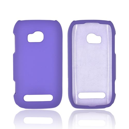 Nokia Lumia 710 Rubberized Hard Case - Purple