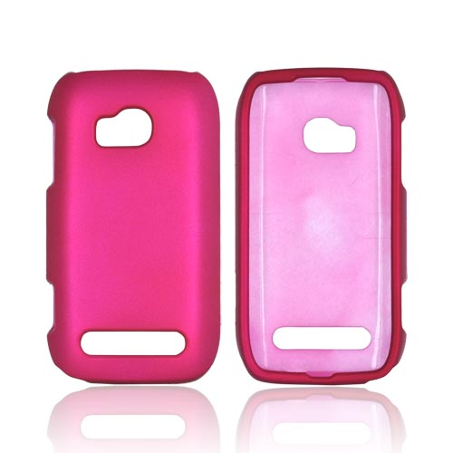 Nokia Lumia 710 Rubberized Hard Case - Rose Pink