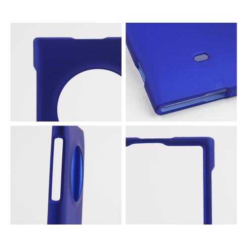 Blue Rubberized Hard Case for Nokia Lumia 1020