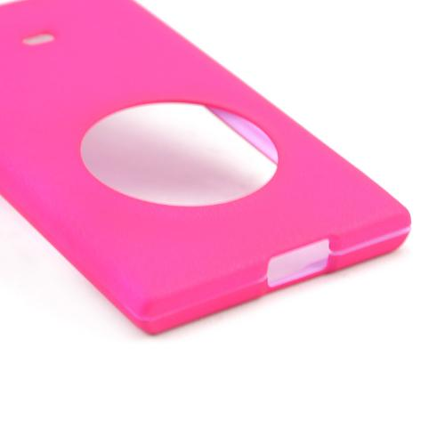 Hot Pink Rubberized Hard Case for Nokia Lumia 1020