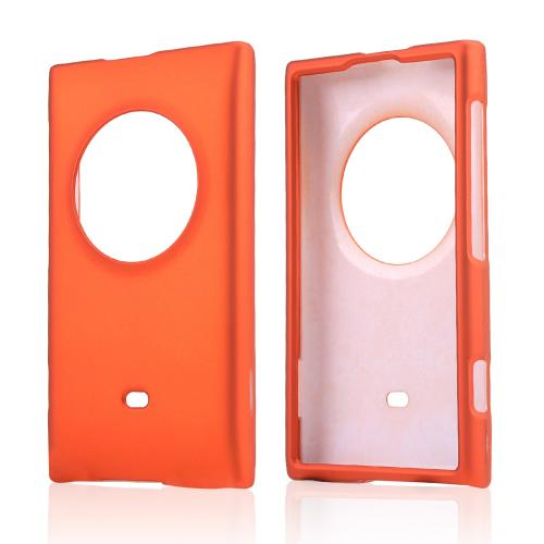 Orange Rubberized Hard Case for Nokia Lumia 1020