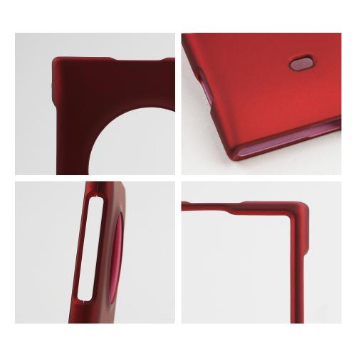 Red Rubberized Hard Case for Nokia Lumia 1020