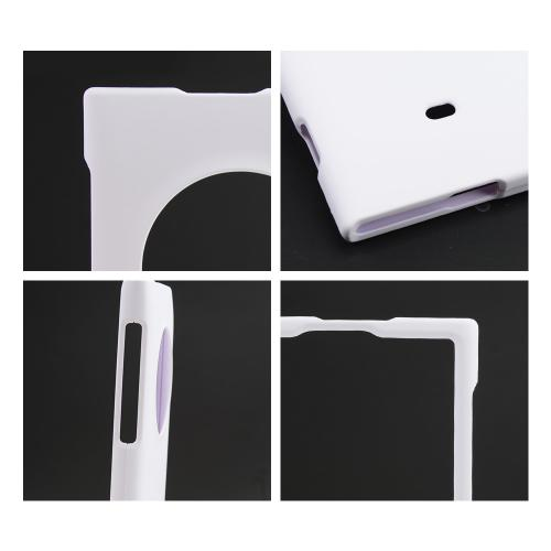 White Rubberized Hard Case for Nokia Lumia 1020