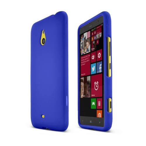 Blue Nokia Lumia 1320 Matte Rubberized Hard Case Cover; Perfect fit as Best Coolest Design Plastic Cases