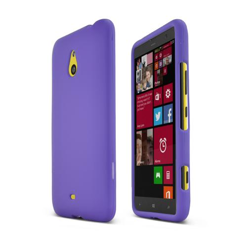 Purple Nokia Lumia 1320 Matte Rubberized Hard Case Cover; Perfect fit as Best Coolest Design Plastic Cases