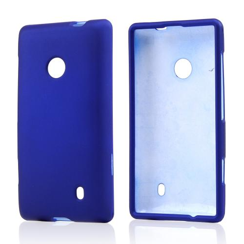 Blue Rubberized Hard Case for Nokia Lumia 521