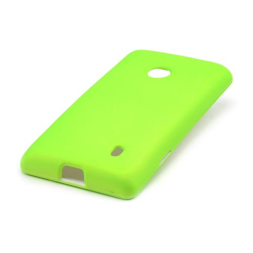 Neon Green Rubberized Hard Case for Nokia Lumia 521