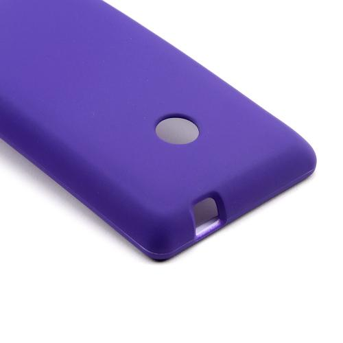 Purple Rubberized Hard Case for Nokia Lumia 521