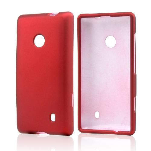 Red Rubberized Hard Case for Nokia Lumia 521