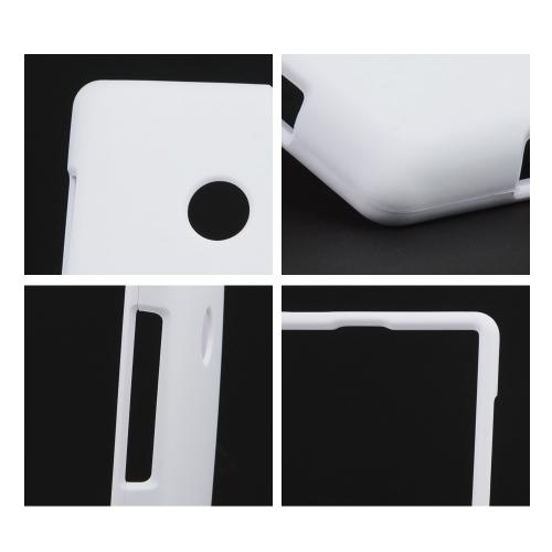 Solid White Rubberized Hard Case for Nokia Lumia 521