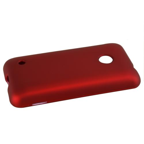 Nokia Lumia 530 Protective Rubberized Hard Case - Anti-Slip Matte Rubber Material [Slim and Perfect Fitting Nokia Lumia 530 Case] [Red]