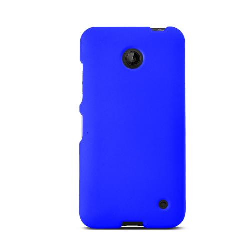 Blue Nokia Lumia 635 Matte Rubberized Hard Case Cover; Perfect fit as Best Coolest Design Plastic cases