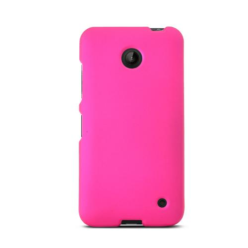Hot Pink Nokia Lumia 635 Matte Rubberized Hard Case Cover; Perfect fit as Best Coolest Design Plastic cases