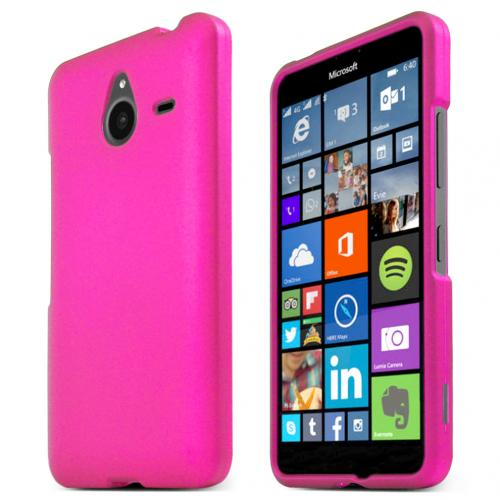 Nokia Lumia 640 XL Case, HOT PINK Slim & Protective Rubberized Matte Hard Plastic Case