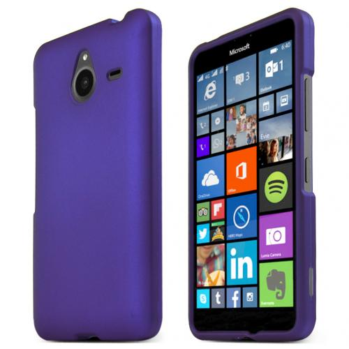 Nokia Lumia 640 XL Case, PURPLE Slim & Protective Rubberized Matte Hard Plastic Case