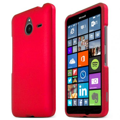 Nokia Lumia 640 XL Case, RED Slim & Protective Rubberized Matte Hard Plastic Case