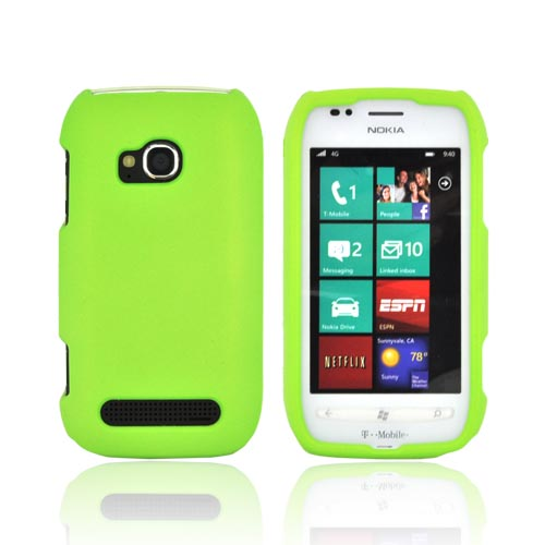 Nokia Lumia 710 Rubberized Hard Case - Neon Green