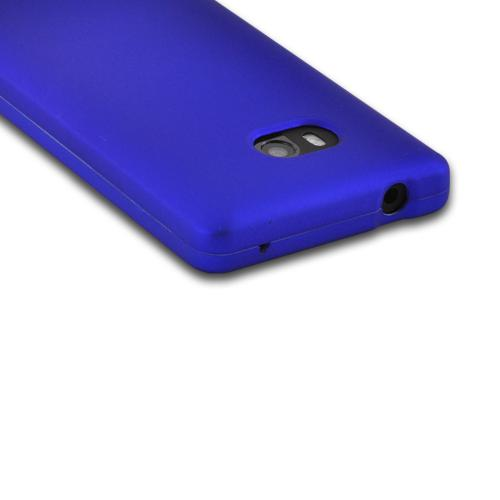 Blue Rubberized Hard Case for Nokia Lumia 810