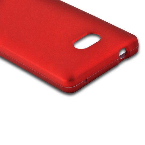 Red Rubberized Hard Case for Nokia Lumia 810
