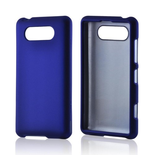 Blue Rubberized Hard Case for Nokia Lumia 820