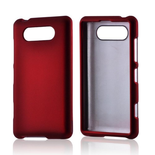 Red Rubberized Hard Case for Nokia Lumia 820