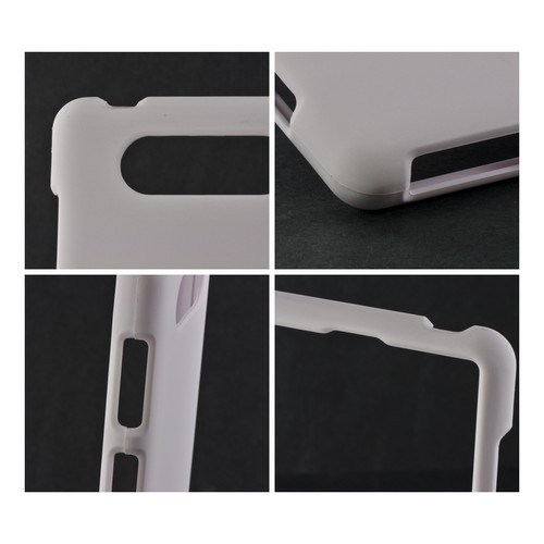 White Rubberized Hard Case for Nokia Lumia 820