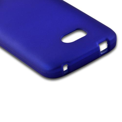 Blue Rubberized Hard Case for Nokia Lumia 822